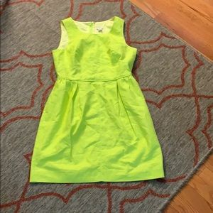 Lime Green J Crew Work Dress w/ pockets